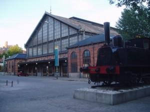 Estació de Delicias donde se realiza el mercadillo ferroviario todos los primeros domingos de mes.