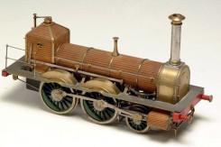 Modelo de la primera locomotora Madrid Aranjuez