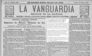 La Vanguardia 10 de febrero de 1890